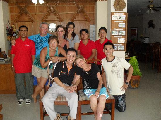 Aonang Goodwill: Us with the friendly staff