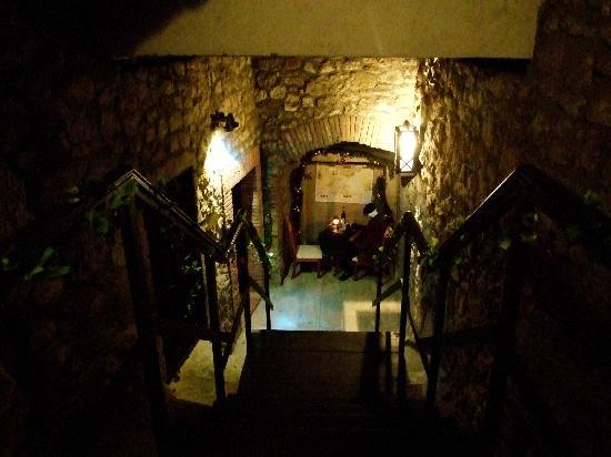 Faust Wine Cellar: On the way down to the Cellar
