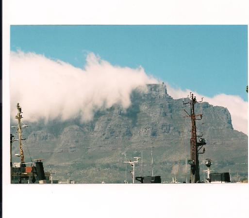 Cape Town Central, South Africa: TABLE MOUNTAIN IN CLOUDS