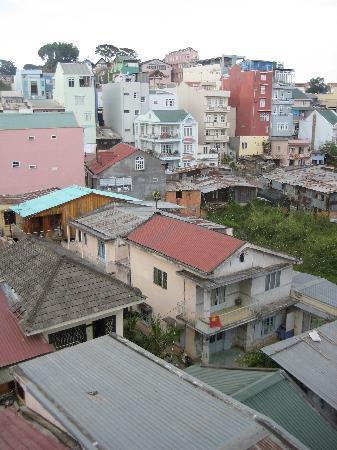 Dreams Hotel: view out the back window- typical vietnam