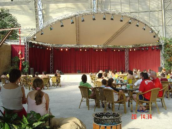 Tropical Islands: Theater for the shows and restaurants.