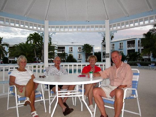 The Grandview Condos Cayman Islands : Enjoying our cocktails and the sunset