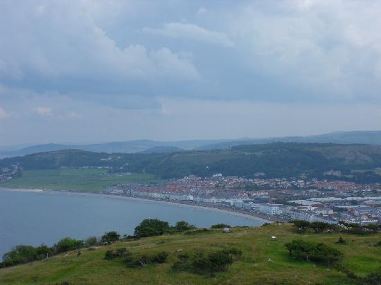 "Bay Marine Hotel: we are on the chair lift goung up ""the great Orme"""