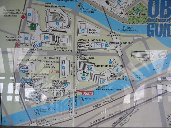 Osaka Business Park: OBP地図