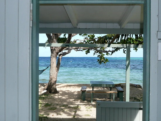 Mai Dive - Astrolabe Reef Resort : View from the bungalow bed