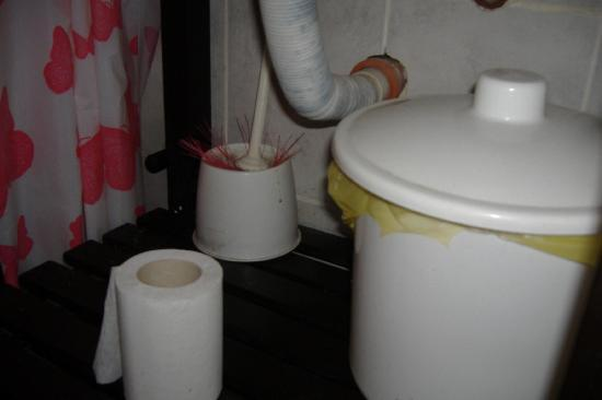 Palermo Soho Hostel: sistemazione anti igienica in bagno