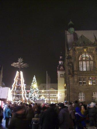 Weihnachtsmarkt Chemnitz, -15°C