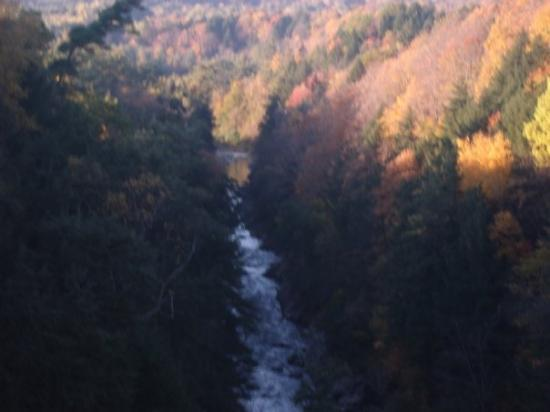 Quechee Gorge on Columbus Day morning, 2009