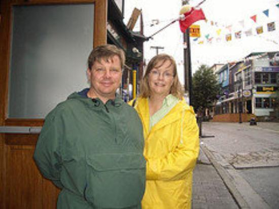 St. John's, Canada: John and I on St. George Street.