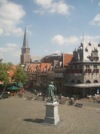 One of the city squares in Hoorn
