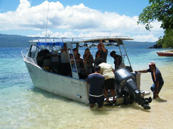 Qamea Resort And Spa Fiji: One of Qamea Resorts Dive Boats
