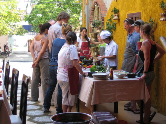 Nha Trang, Vietnam: The Cooking Class in action