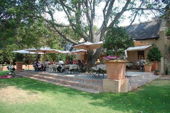 The terrace at Cafe Bon Bon