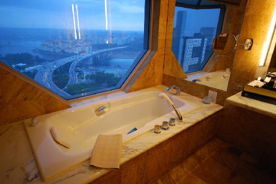 The Ritz-Carlton, Millenia Singapore: Bath with a View