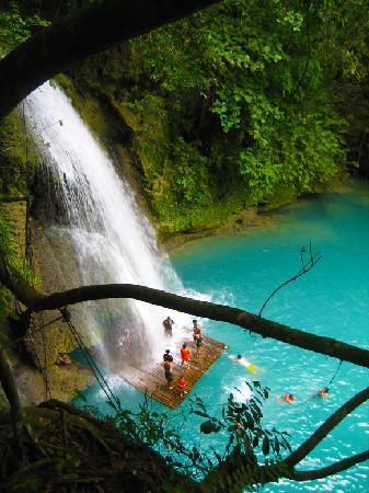 Kawasan Falls : view from above - no jumping :(