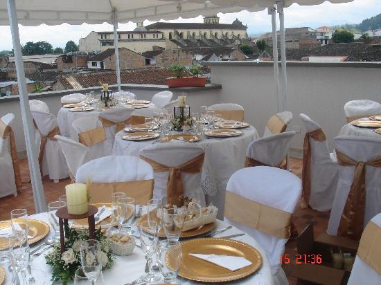 Hotel San Jeronimo: terraza café -Bar, con vista panoramica de la ciudad