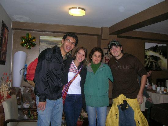 In Casita: Recuerdo con Rosita (dueña del Hotel)
