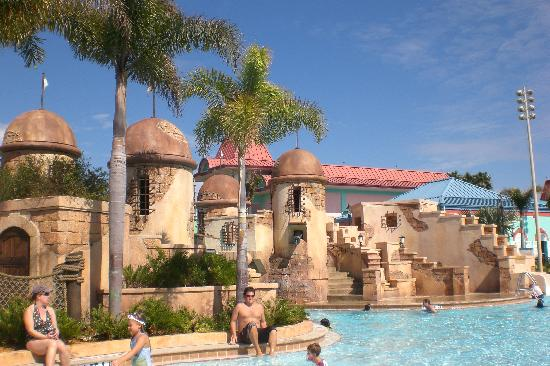 Main Pool Picture Of Disney S Caribbean Beach Resort Orlando Tripadvisor