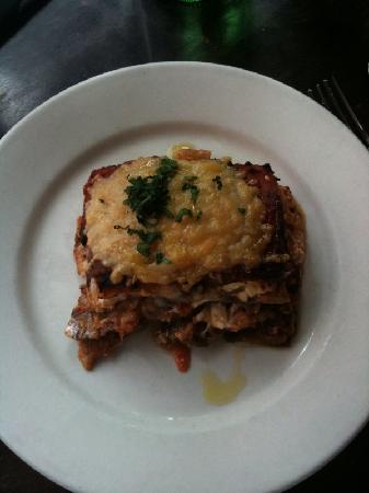 'Inoteca: Lasagna made using eggplant instead of pasta