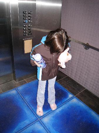 ألوفت بولنجبروك: pressure sensitive tiles in elevator, much to the amusement of children as well as adults