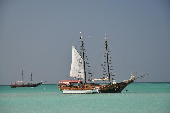Le Chateau Aruba: Boats in the water, just beautiful to see