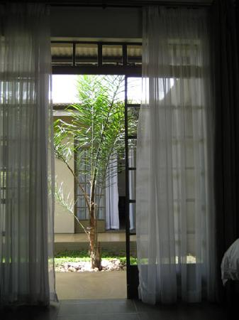 The Elegant Guesthouse: Courtyard view from room.