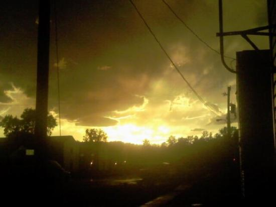 Sparta, WI: this was the first night we got there, it was right after a tornado came by, crazy thunderstorms