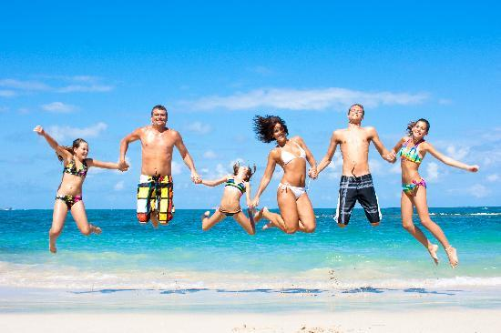 family fun time picture of grand paradise playa dorada puerto