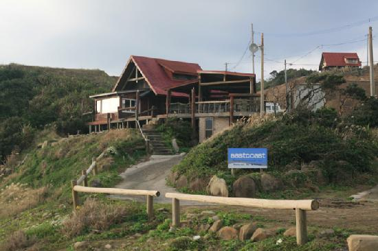 Ocean View Log House Tanegashima Umino Yado: サーファーの休憩所&レストランバー