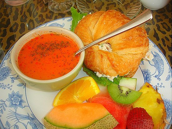Lulu's Tea Room: You must try our tomato dill soup and chicken salad.