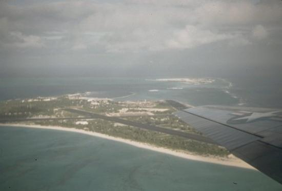 Midway Island, HI: Midway from the air.