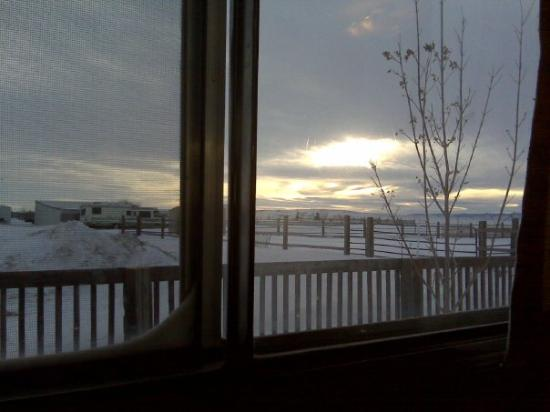 Casper, WY: view from my window of a sunny morning