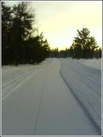 Paradise, MI: Upper Peninsula.  Newberry to Whitefish Point with the ex.  Feb 2007.