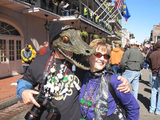 Hotel St. Marie: alligator head mask. everyone loved it.