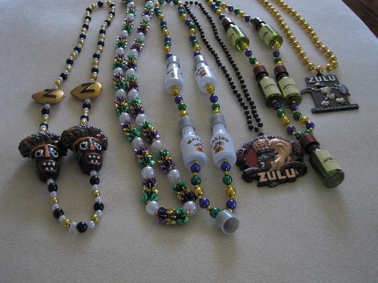 Hotel St. Marie: beads from zulu parade