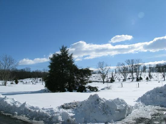 The Inn at Vaucluse Spring: Rolling snow covered hills.