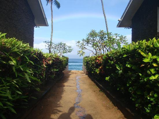 Napili Village: 50 metres from your unit door to the beach through this pathway.