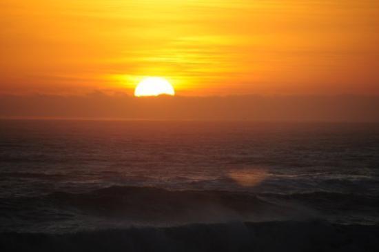Cambria, CA: Saturday night sunset from Moonstone Beach.