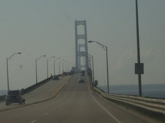 Mackinac Bridge: This bridge is the longest suspension bridge over fresh water.It's 5 miles long. so not fun to d