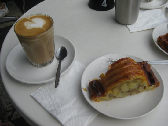 Monarch Bakery: Strudel and Latte at Monarch Cake Shop