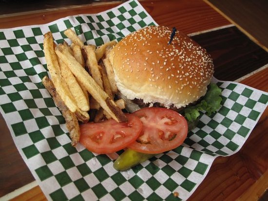 Snug Harbor Cafe: Bacon Cheese Burger and Fries