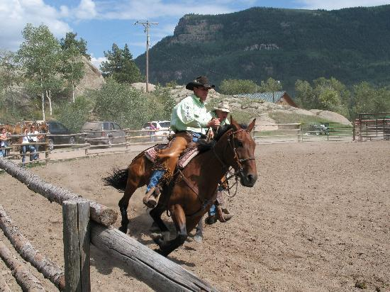 Rainbow Trout Ranch: Oh...and there's a rodeo on the last day that you can even ride in