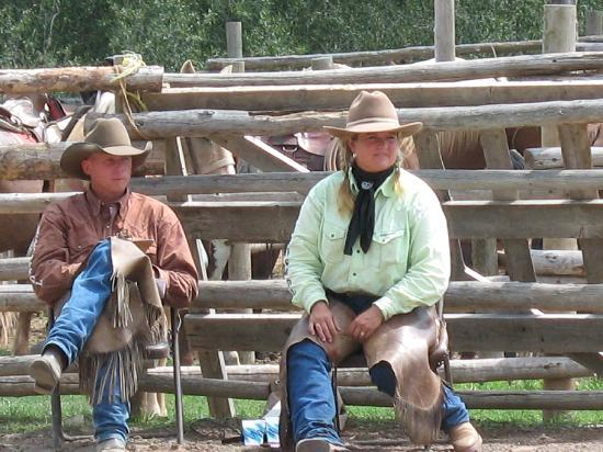 Rainbow Trout Ranch: Your hosts...a true cowboy and cowgirl