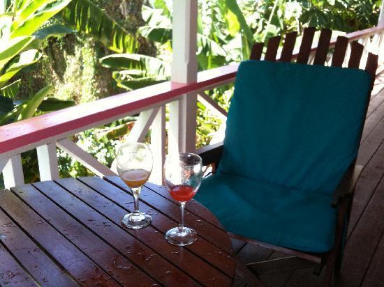 Stonefield Villa Resort: Lounging at our villa