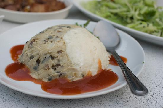 Fuyam Tourist Home: Hakka Dish - our absolute favorite made of mashed yam
