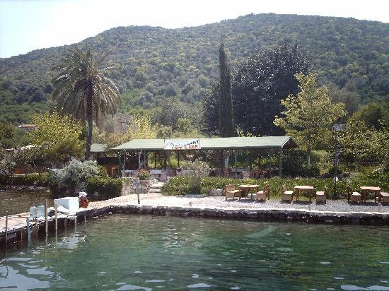 Gocek, Turquía: a little cafe on the 12 islands boat trip