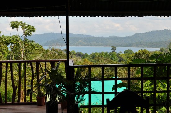 Pura Vista Corcovado Ecocamp: View from the restaurant