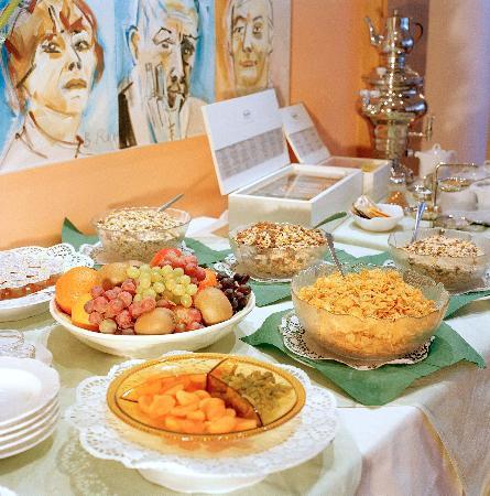 Asam Stadthotel: Unser kleiner Ausblick auf unsere reichhaltiges Frühstücksbuffet