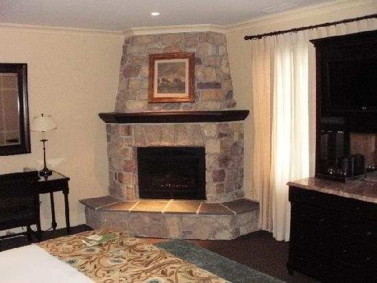 The Hotel Hershey: Beautiful corner fireplace