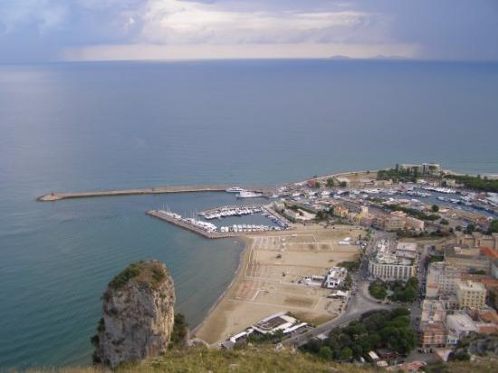 Terracina, Italy: View from the temple of Jupiter.